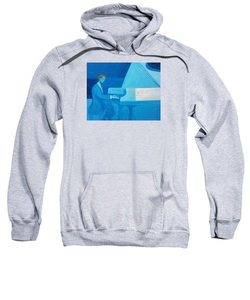 Justin Levitt Steinway Piano Blue Sweatshirt