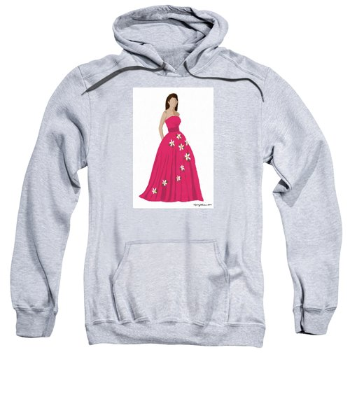 Sweatshirt featuring the digital art Justine by Nancy Levan