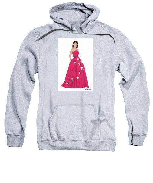 Sweatshirt featuring the digital art Justine by Nancy Levan