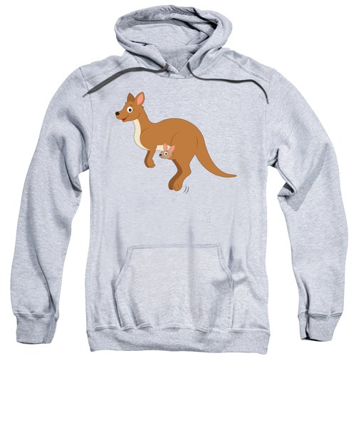 Mamma Kangaroo And Joey Sweatshirt by A