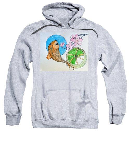 Karp And Cherry Blooms Sweatshirt