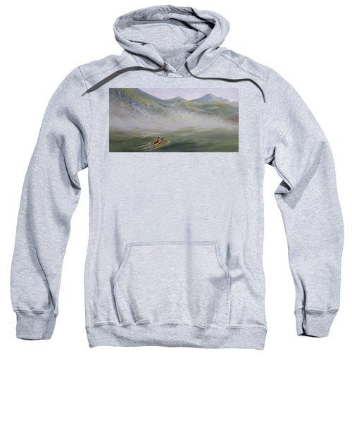 Kayaking Through The Fog Sweatshirt
