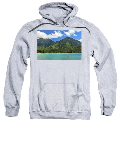 Kayaks In Hanalei Bay Sweatshirt