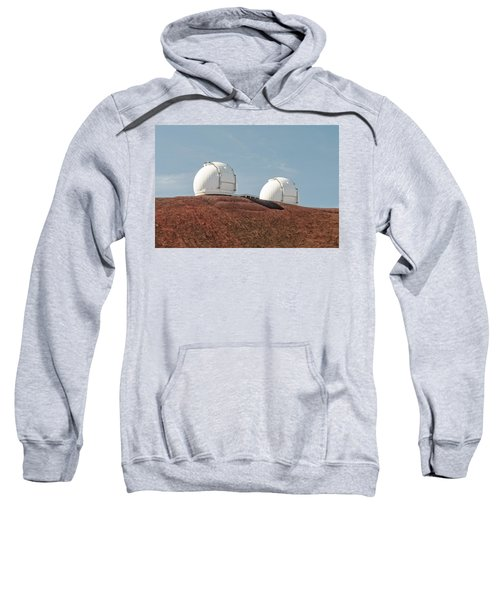 Sweatshirt featuring the photograph Keck 1 And Keck 2 by Jim Thompson