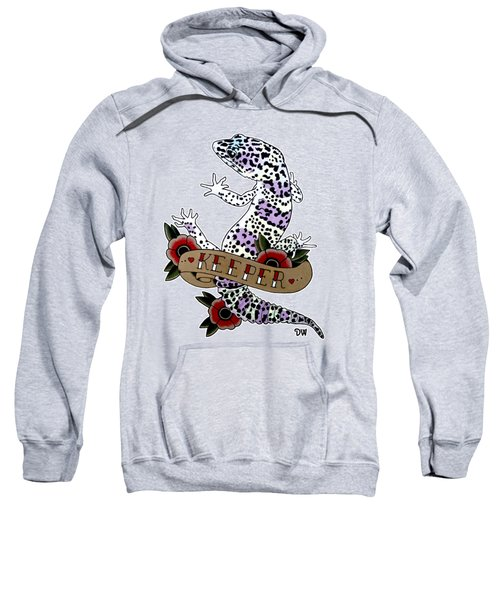 Keeper Leopard Gecko Sweatshirt by Donovan Winterberg