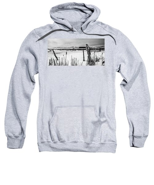 Keeping Watch Black And White Sweatshirt