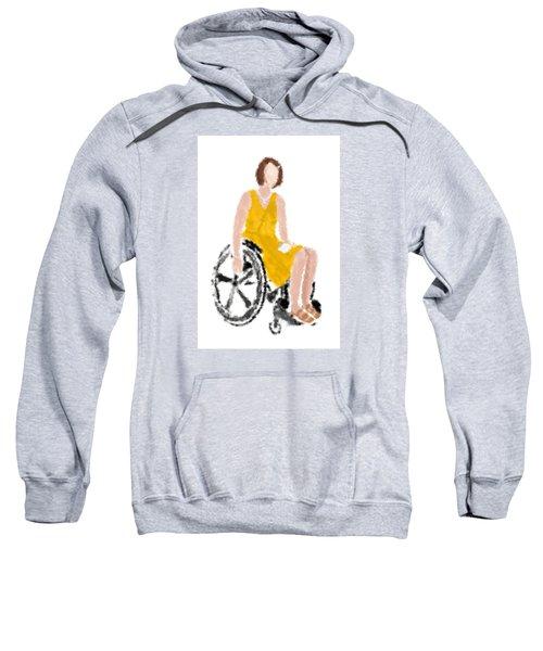 Sweatshirt featuring the digital art Kelly by Nancy Levan