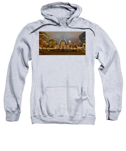 Kiener Plaza And The Gateway Arch Sweatshirt