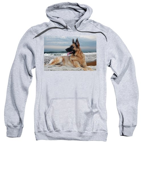 King Of The Beach - German Shepherd Dog Sweatshirt