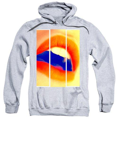 Kiss Me-triptych Sweatshirt