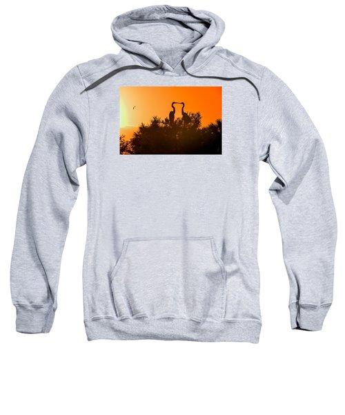 Kissing Herons  Sweatshirt