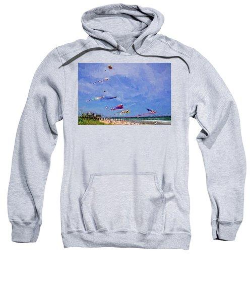 Kites At The Flagler Beach Pier Sweatshirt