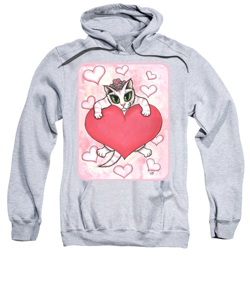 Kitten With Heart Sweatshirt