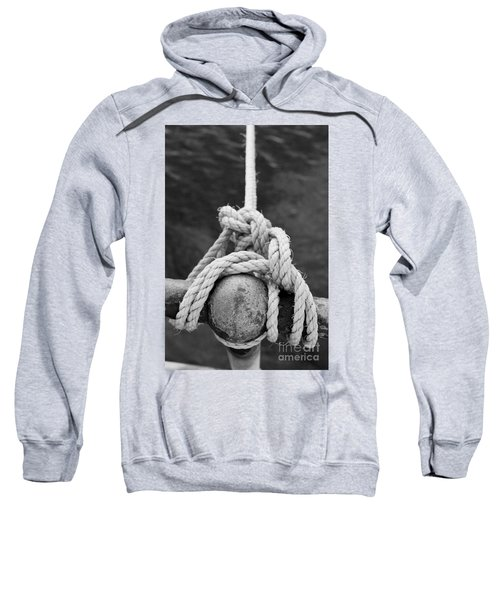 Sweatshirt featuring the photograph Knot On My Warf Iv by Stephen Mitchell