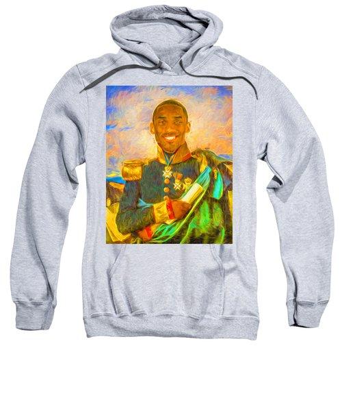 Kobe Bryant Floor General Digital Painting La Lakers Sweatshirt by David Haskett
