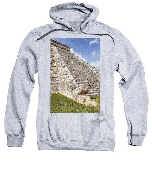 Kukulkan Pyramid At Chichen Itza Sweatshirt