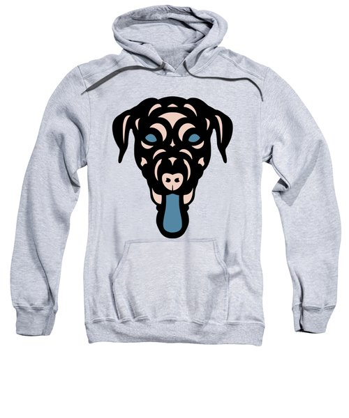 Labrador Dorianna - Dog Design - Island Paradise, Pale Dogwood,  Niagara Blue Sweatshirt