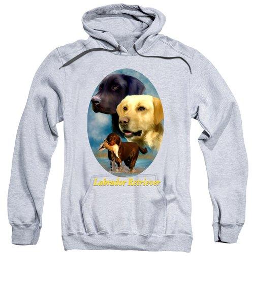 Labrador Retriever With Name Logo Sweatshirt