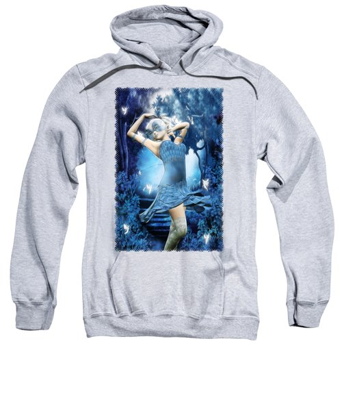 Lady Blue Fantasy Art Sweatshirt by Sharon and Renee Lozen