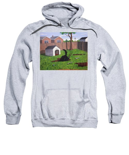 Lady Digs In The Backyard Sweatshirt