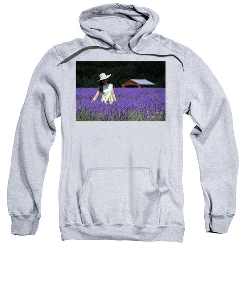 Lady In Lavender Sweatshirt