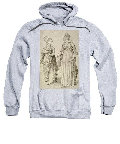 Lady In Venetian Dress Contrasted With A Nuremberg Hausfrau Sweatshirt