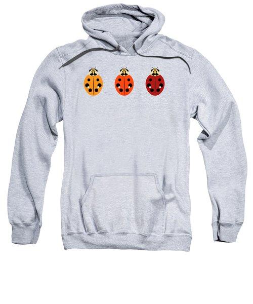 Ladybug Trio Horizontal Sweatshirt by MM Anderson