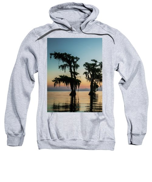 Lake Maurepas Sunrise Triptych No 3 Sweatshirt
