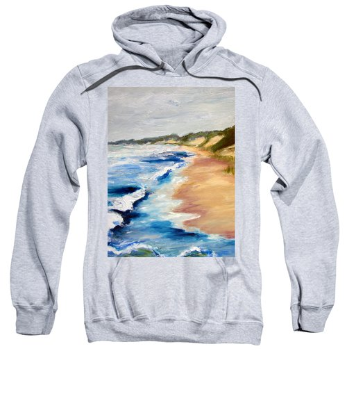 Lake Michigan Beach With Whitecaps Detail Sweatshirt