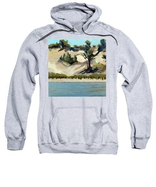 Lake Michigan Dune With Trees And Beach Grass Sweatshirt