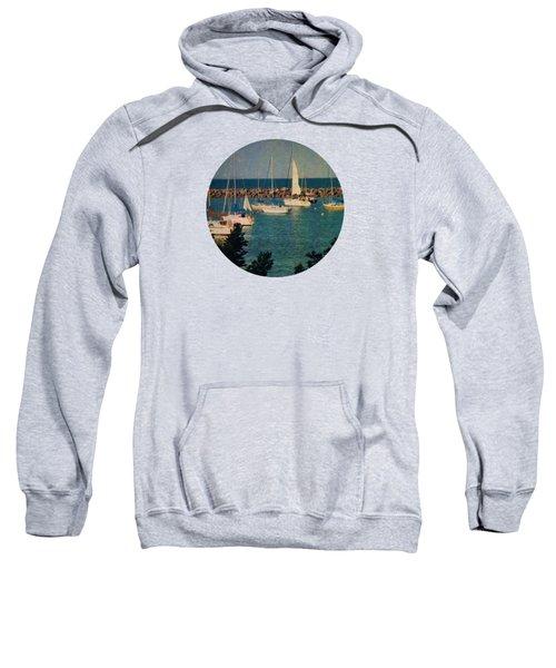 Lake Michigan Sailboats Sweatshirt by Mary Wolf