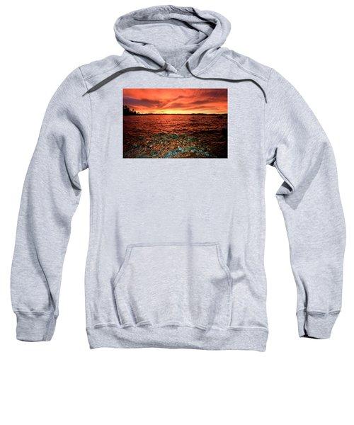 Lake Tahoe...blood Moon Sunset Sweatshirt