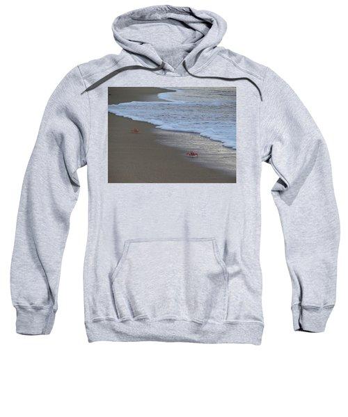 Lamu Island - Crabs Playing At Sunset 4 Sweatshirt by Exploramum Exploramum