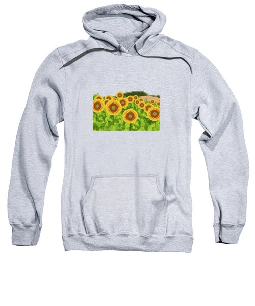 Land Of Sunflowers. Sweatshirt by Absentis Designs