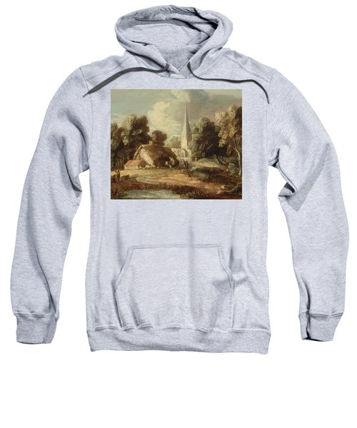 Landscape With Cottage And Church Sweatshirt