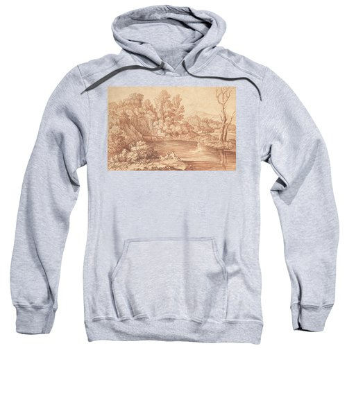 Landscape With Figures On The Bank Of A River Sweatshirt