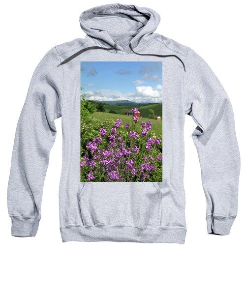 Landscape With Purple Flowers Sweatshirt