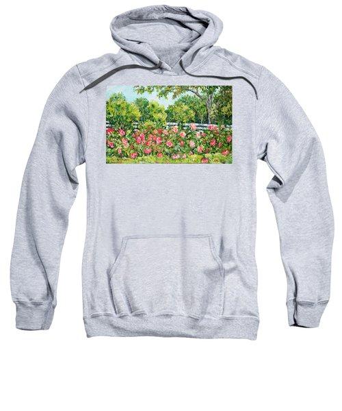 Landscape With Roses Fence Sweatshirt