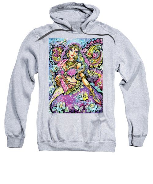 Purple Paisley Flower  Sweatshirt