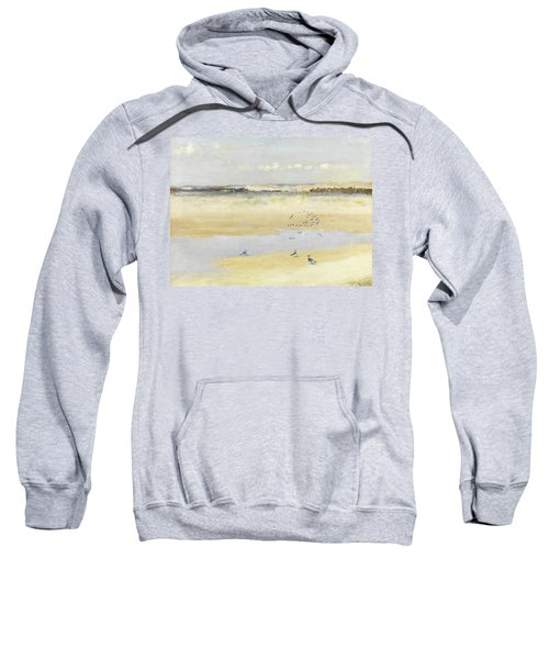 Lapwings By The Sea Sweatshirt by William James Laidlay