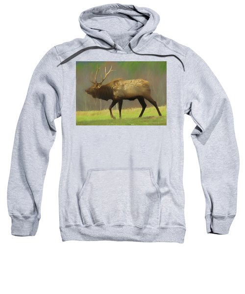 Large Pennsylvania Bull Elk. Sweatshirt