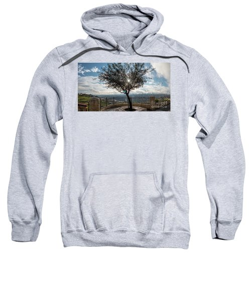 Large Tree Overlooking The City Of Jerusalem Sweatshirt