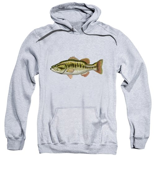 Largemouth Bass Sweatshirt by Serge Averbukh