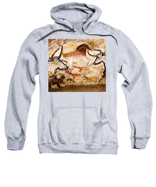 Lascaux Hall Of The Bulls - Deer Between Aurochs Sweatshirt