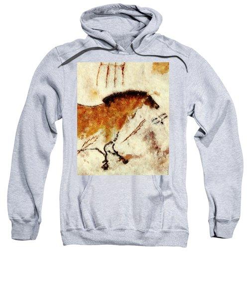 Lascaux Prehistoric Horse Detail Sweatshirt