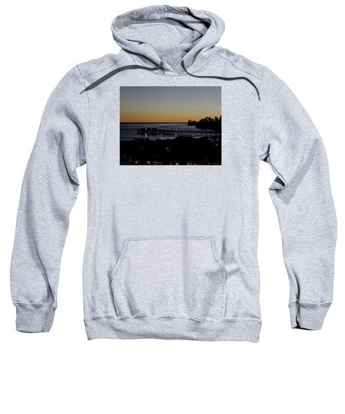 Sweatshirt featuring the photograph Last 2015 Sunset by Lora Lee Chapman