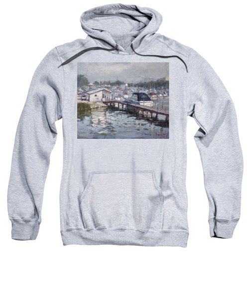 Late Afternoon At Tonawanda Harbor Sweatshirt