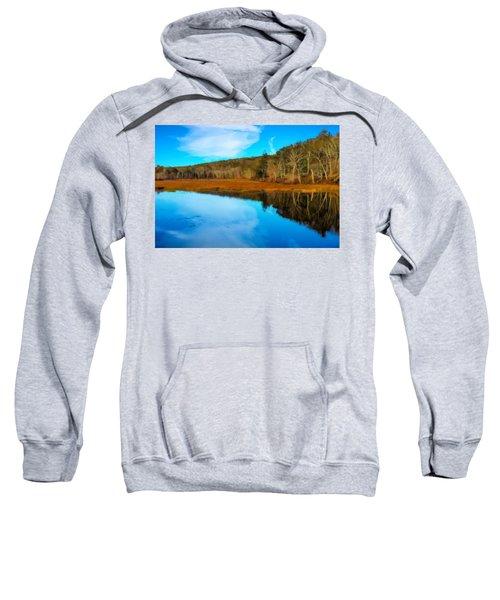 Late Fall At A Connecticut Marsh. Sweatshirt