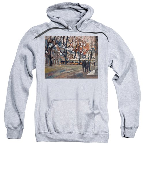 Late November At The Our Lady Square Maastricht Sweatshirt by Nop Briex