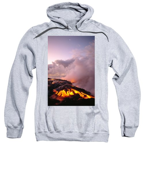 Lava Flows At Sunrise Sweatshirt by Peter French - Printscapes